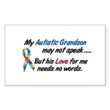 Needs No Words 1 (Grandson) Rectangle Decal