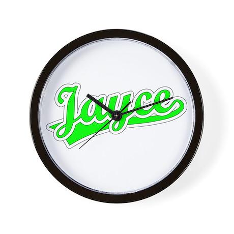 Retro Jayce (Green) Wall Clock