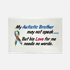 Needs No Words 1 (Brother) Rectangle Magnet (10 pa