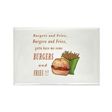 Burgers and Fries Rectangle Magnet (10 pack)