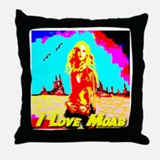 I Love Moab Throw Pillow