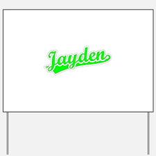 Retro Jayden (Green) Yard Sign