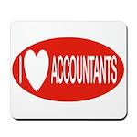 I Love Accountants Mousepad