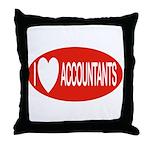 I Love Accountants Throw Pillow