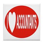 I Love Accountants Tile Coaster