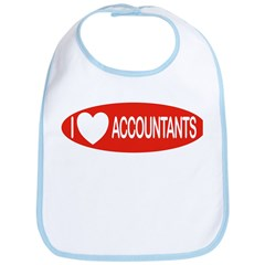 I Love Accountants Bib