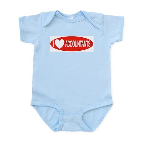 I Love Accountants Infant Creeper