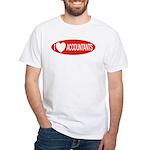I Love Accountants White T-Shirt