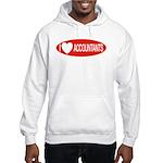 I Love Accountants Hooded Sweatshirt