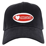 I Love Accountants Black Cap
