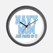 Navy Mom and Proud of it Wall Clock