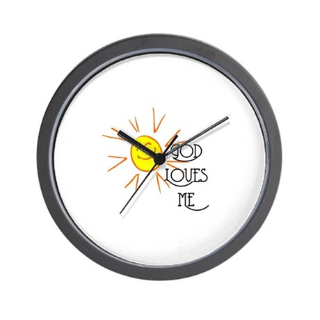 God Loves Me Wall Clock