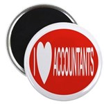 I Love Accountants Magnet