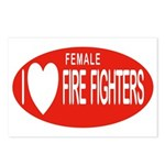 I Love Female Fire Fighters Postcards (Package of