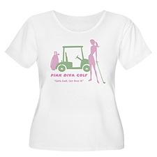 Pink Diva Golf - Women's Plus Size Scoop Neck Tee
