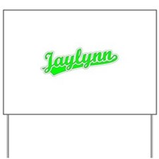 Retro Jaylynn (Green) Yard Sign