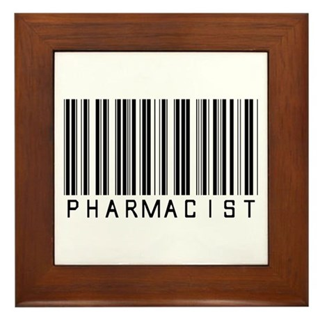 Pharmacist Barcode Framed Tile