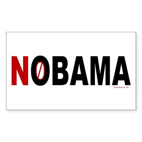 NOBAMA Rectangle Sticker