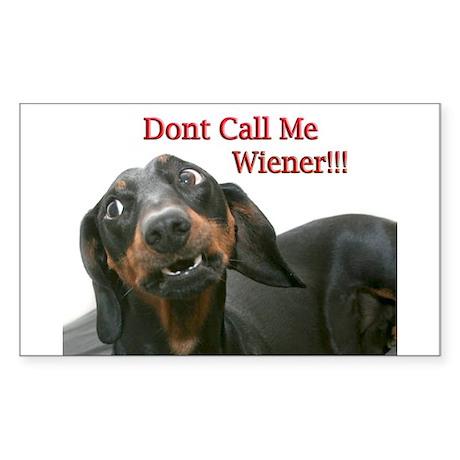 Who U Callin Wiener Rectangle Sticker