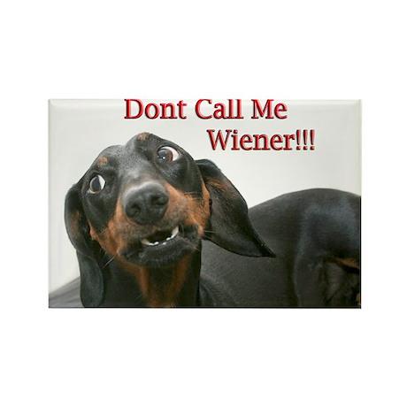 Who U Callin Wiener Rectangle Magnet
