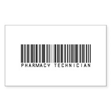 Pharmacy Technician Barcode Rectangle Decal