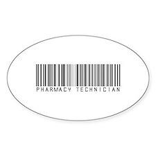 Pharmacy Technician Barcode Oval Decal