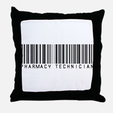 Pharmacy Technician Barcode Throw Pillow