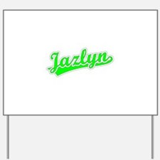 Retro Jazlyn (Green) Yard Sign