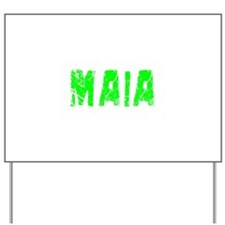 Maia Faded (Green) Yard Sign