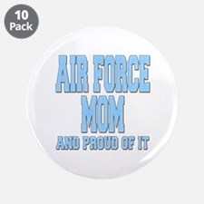 """Air Force Mom 3.5"""" Button (10 pack)"""