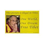 Dalai Lama Rectangle Magnet
