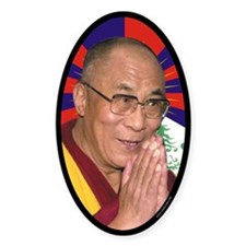 Dalai Lama Oval Decal