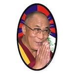Dalai Lama Oval Sticker