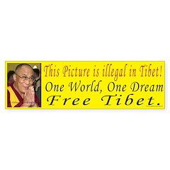 Dalai Lama Bumper Bumper Sticker