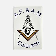 Colorado Square and Compass Rectangle Magnet