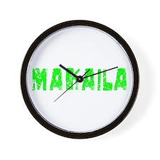 Makaila Faded (Green) Wall Clock