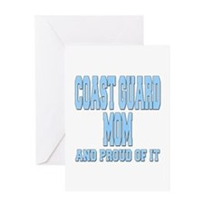 Coast Guard Mom Proud of it Greeting Card