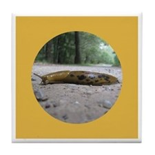 Banana Slug in Forest Tile Coaster