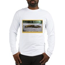 Banana Slug in Forest Long Sleeve T-Shirt