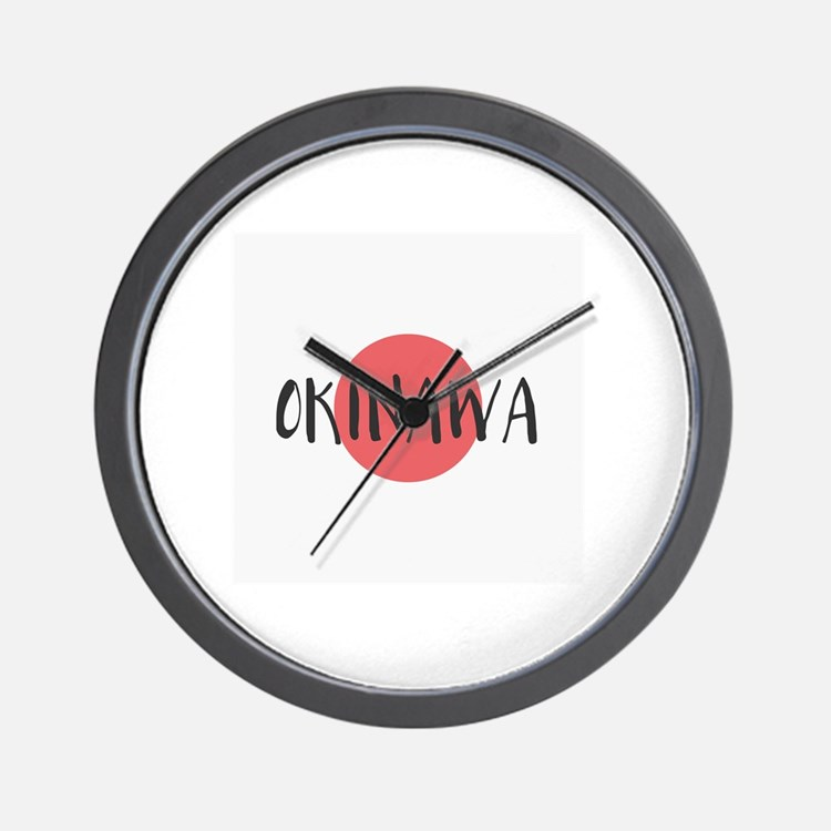 Cute Okinawa Wall Clock