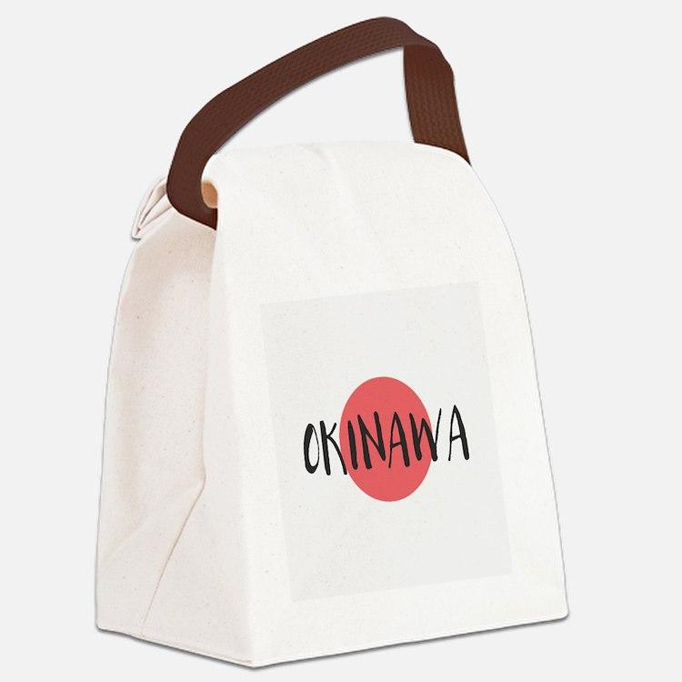 Cute Okinawa Canvas Lunch Bag