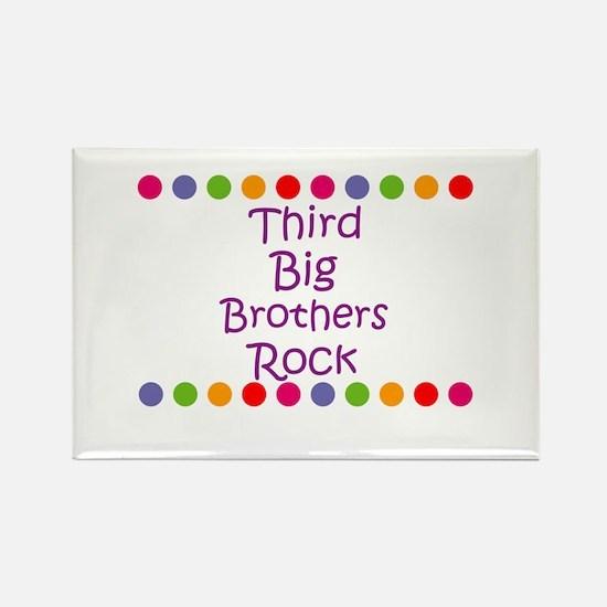 Third Big Brothers Rock Rectangle Magnet