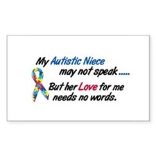 Needs No Words 1 (Niece) Rectangle Sticker 10 pk)