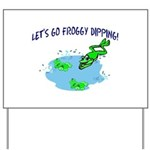 Froggy Dipping Yard Sign