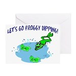 Froggy Dipping Greeting Card