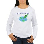 Froggy Dipping Women's Long Sleeve T-Shirt