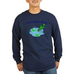 Froggy Dipping Long Sleeve Dark T-Shirt