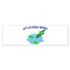 Froggy Dipping Bumper Sticker