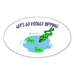 Froggy Dipping Oval Sticker (50 pk)
