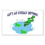 Froggy Dipping Rectangle Sticker